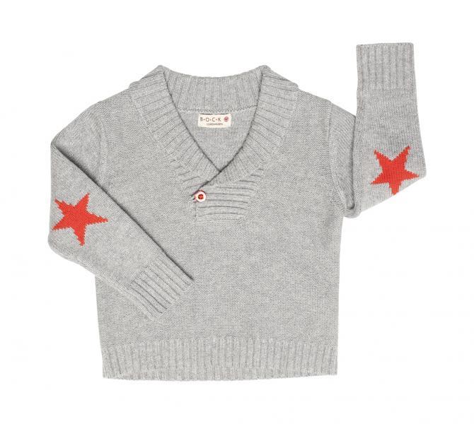 aa945fed Bock Cph,strikket genser med krave, grå - pennogpapir